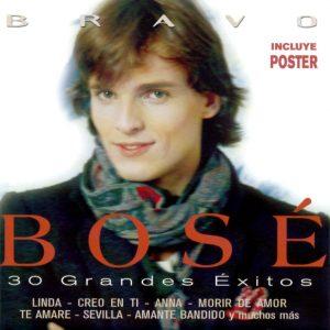 portada del disco Bravo Bosé