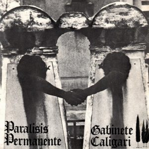 portada del disco Parálisis Permanente / Gabinete Caligari