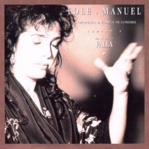 portada del disco Lole y Manuel Cantan a Manuel de Falla