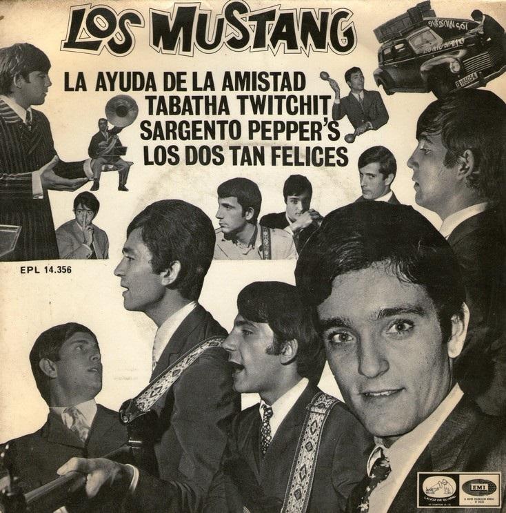 portada del disco La Ayuda de la Amistad / Tabatha Twichit / Sargento Pepper's / Los Dos tan Felices