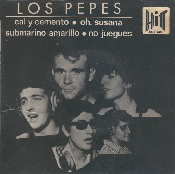 portada del disco Cal y Cemento / Oh, Susana / Submarino Amarillo / No Juegues