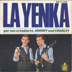 portada del disco La Yenka por sus Creadores Johnny and Charley
