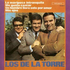 portada del disco La Mariposa Intranquila / Me Gusta Cantar / Un Hombre Llora Solo por Amor / Mis Ojos