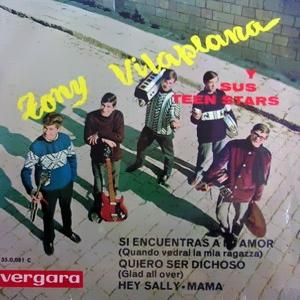 portada del disco Si Encuentras a mi Amor / Quiero Ser Dichoso / Hey Sally / Mama
