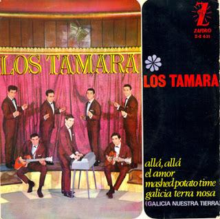 portada del disco Allá, Allá / Galicia, Terra Nosa / El Amor / Mashed Potato Time