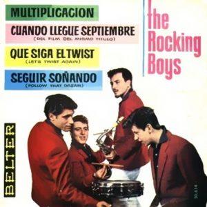 portada del disco Multiplicación / Cuando Llegue Septiembre / Que Siga el Twist / Seguir Soñando
