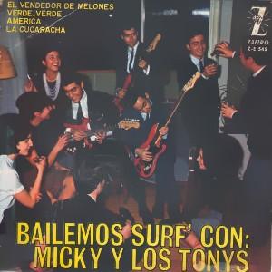 portada del disco Bailemos Surf' con Micky y Los Tonys