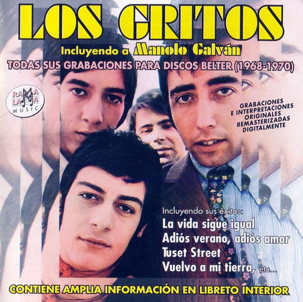 portada del disco Los Gritos. Todas Sus Grabaciones