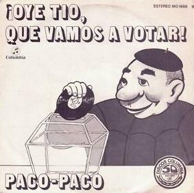 portada del disco ¡Oye, Tío, Qué Vamos a Votar / La Canción del Gitano
