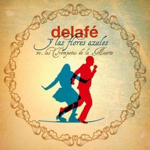 portada del disco Delafé y Las Flores Azules Vs. Las Trompetas de la Muerte