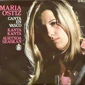 portada del disco María Ostiz Canta en Vasco