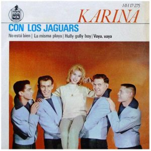 portada del disco Karina con Los Jaguars