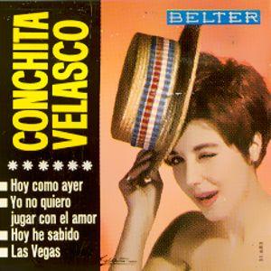 portada del disco Hoy Como Ayer / Yo no Quiero Jugar con el Amor / Hoy He Sabido / Las Vegas