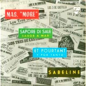 portada del disco Más / Sapore di Sale / Et Pourtant / Sabeline
