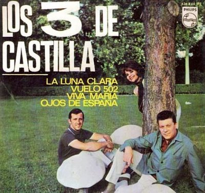 portada del disco La Luna Clara / Vuelo 502 / Viva María / Ojos de España
