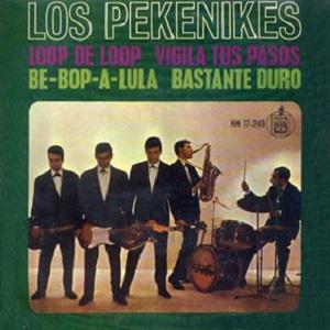 portada del disco Loop the Loop / Vigila Tus Pasos / Be-Bop-A-Lula / Bastante Duro