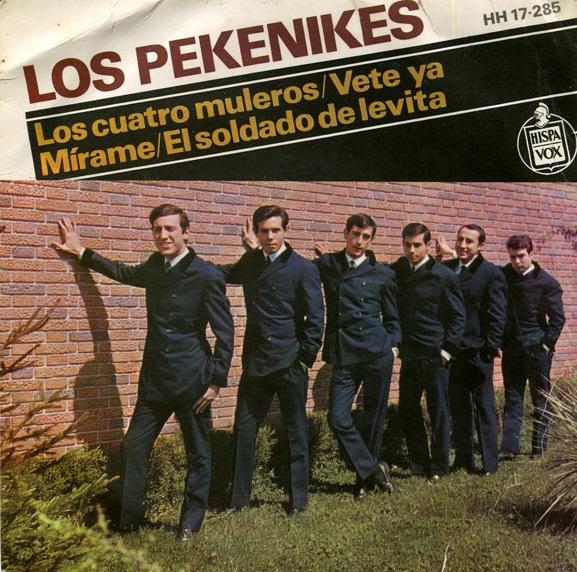 portada del disco Los Cuatro Muleros / Vete Ya / Mírame / El Soldado de Levita
