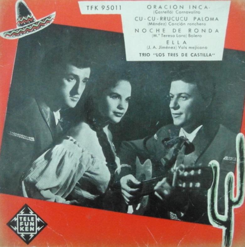 portada del disco Oración Inca / Cu-currucucu Paloma / Noche de Ronda / Ella