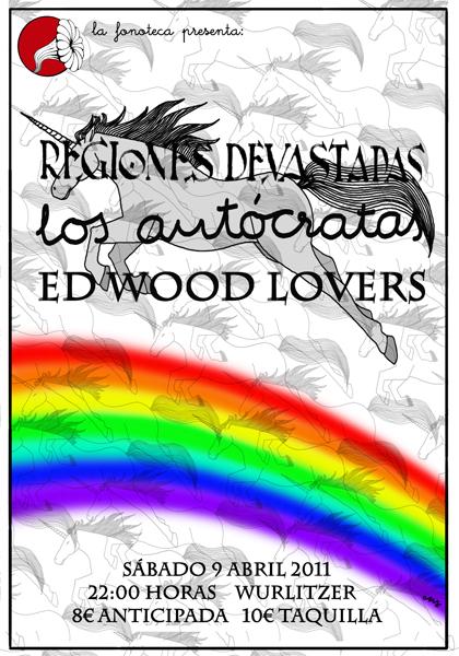 portada del evento ED WOOD LOVERS, LOS AUTÓCRATAS Y REGIONES DEVASTADAS EN LA WURLITZER