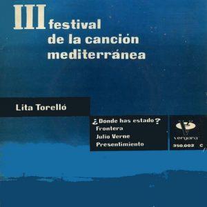 portada del disco III Festival de la Canción Mediterránea