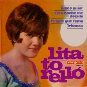portada del disco Adiós Amor / Esta Noche me Decido/ El Bote que Remo / Tristeza