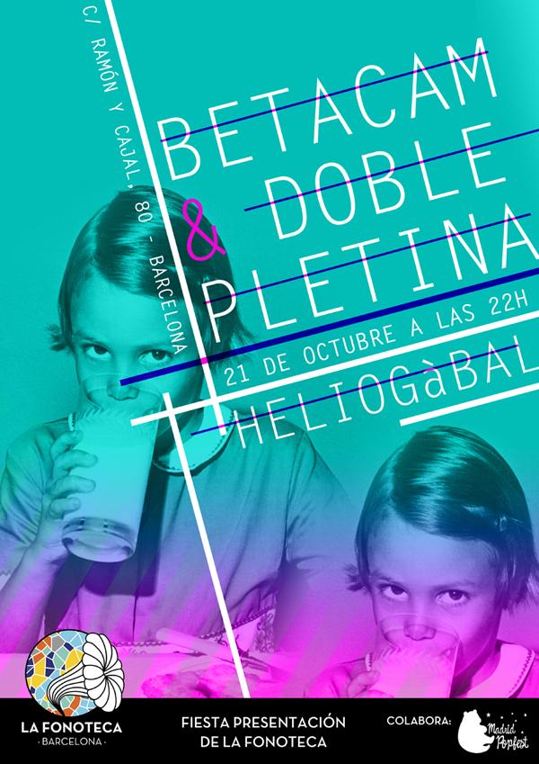 portada del evento NACE LAFONOTECA BCN: DOBLE PLETINA Y BETACAM EN HELIOGÀBAL