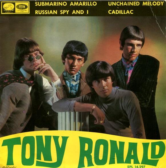 portada del disco Submarino Amarillo / The Russian Spy and I / Unchained Melody / Cadillac