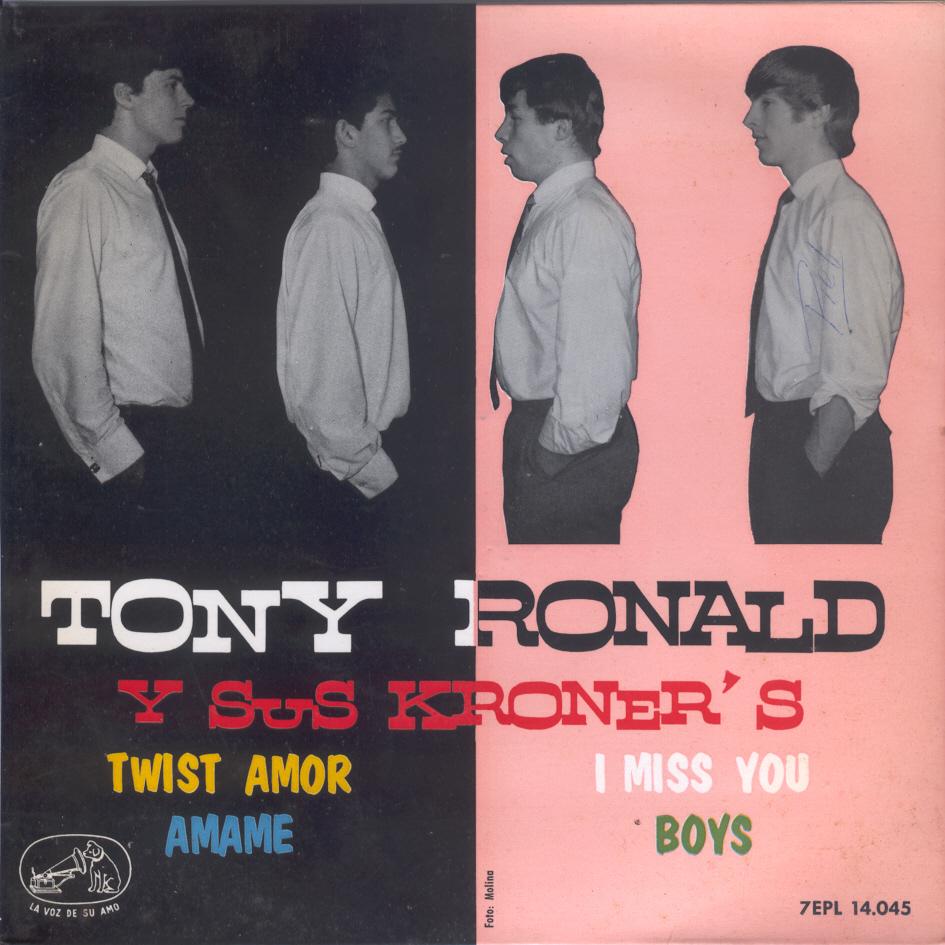 portada del disco Twist Amor / I Miss You / Ámame / Boys
