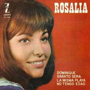 portada del disco Dominique / La Misma Playa / Sabato Sera / No Tengo Edad