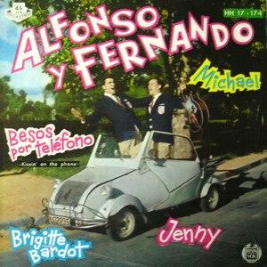 portada del disco Michael / Besos por Teléfono / Brigitte Bardot / Jenny