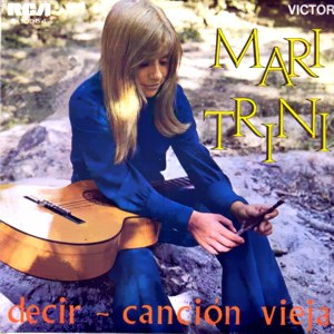 portada del disco Decir / Canción Vieja