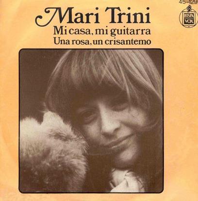 portada del disco Mi Casa, mi Guitarra / Una Rosa, un Crisantemo
