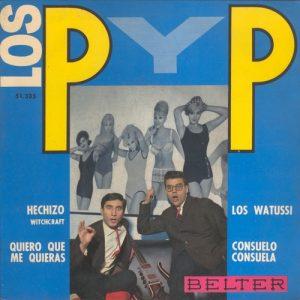 portada del disco Los Watusi / Hechizo / Consuelo Consuela / Quiero que me Quieras
