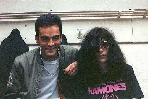 Joaquín Rodríguez y Joey Ramone
