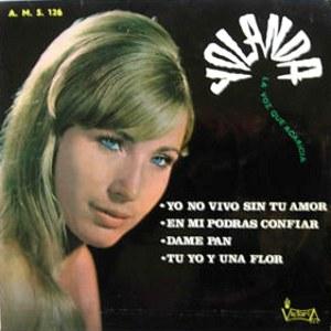portada del disco Yo no Vivo sin Tu Amor / En Mí Podrás Confíar / Dame Pan / Tú, Yo y una Flor