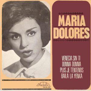 portada del disco Venecia sin Ti / Donna Donna / Plus Je T'entends / Baila la Yenka