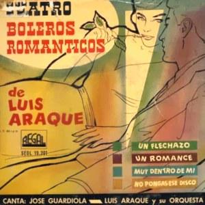 portada del disco Cuatro Boleros Románticos de Luis Araque