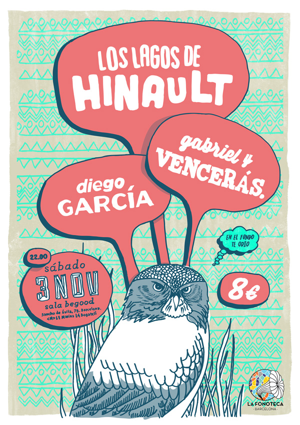 portada del evento LAFONOTECA BCN CUMPLE UN AÑO Y LO CELEBRA CON DIEGO GARCÍA, LOS LAGOS DE HINAULT Y GABRIEL Y VENCERÁS