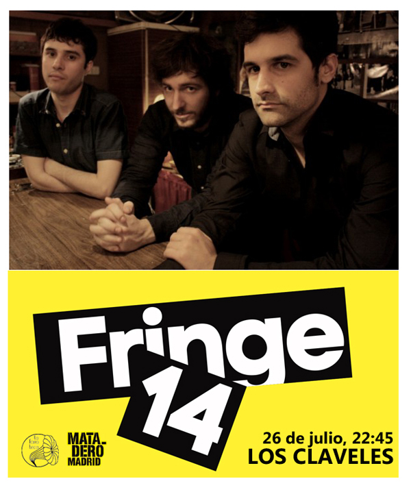 cartel del evento CERRAMOS LA PROGRAMACIÓN MUSICAL DEL FRINGE'14 CON LOS CLAVELES
