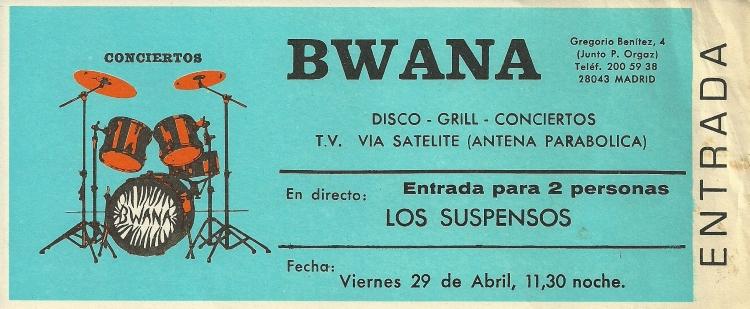 Entrada Bwana Los Suspensos