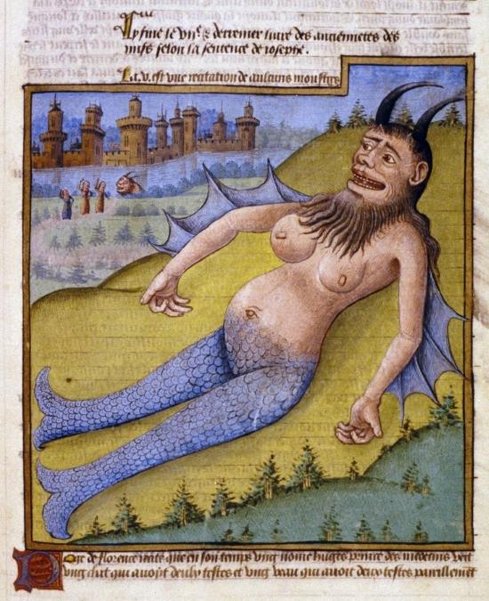 Ilustración en Miroir du Monde de Poggio Bracciolini, mediados del Siglo XV