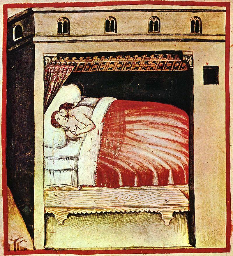 Coito, Tacuinium Sanitatis, Siglo XIV