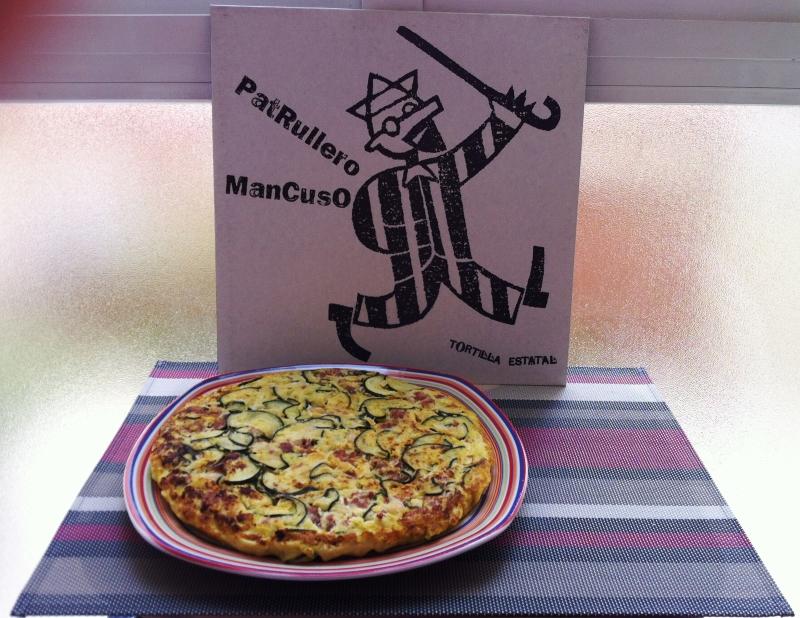 Tortilla de calabacín, alubias y butifarra / Patrullero Mancuso