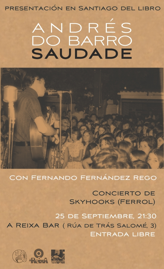 """portada del evento PRESENTACIÓN DEL LIBRO """"ANDRÉS DO BARRO: SAUDADE"""" EN SANTIAGO"""