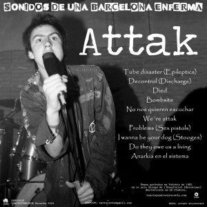portada del disco Sonidos de una Barcelona Enferma: Attak / Shit S.A.