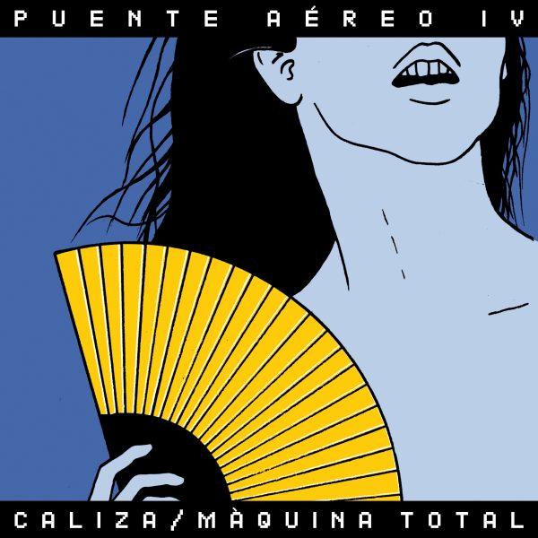 """portada del evento PRESENTACIONES DEL """"PUENTE AÉREO VOL. 4"""" EN MADRID Y BARCELONA: CALIZA Y MÀQUINA TOTAL"""