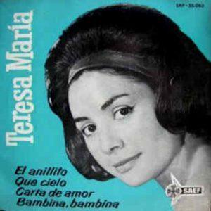portada del disco El Anillito / Que Cielo / Carta de Amor / Bambina, Bambina