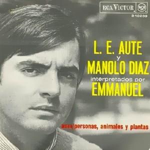 portada del album L.E. Aute y Manolo Díaz interpretados por Emmanuel