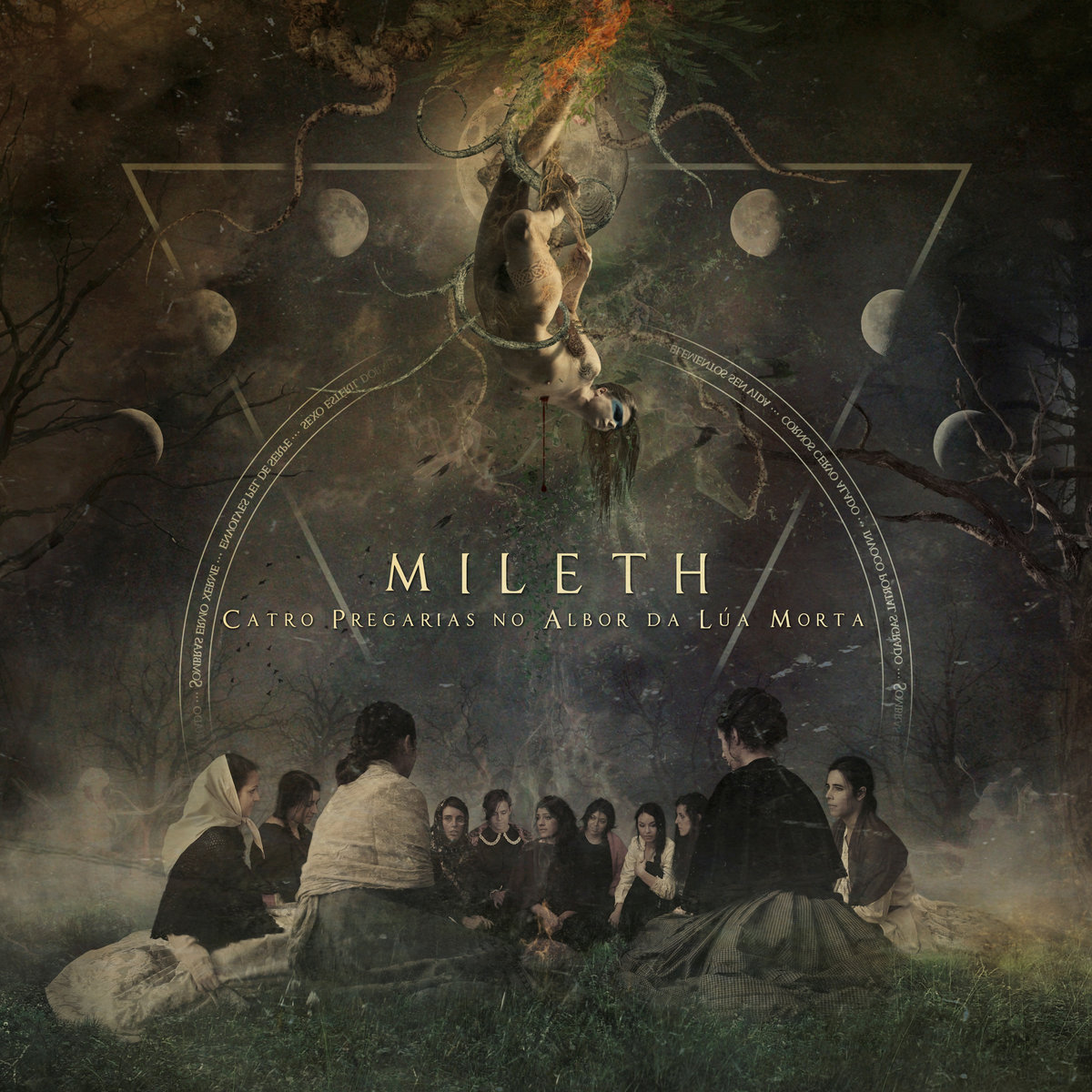 portada del album Catro Pregarias no Albor da Lúa Morta