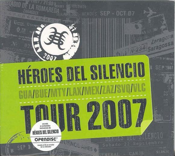 portada del album Héroes del Silencio. Tour 2007